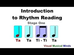 A series of videos on music rhythm reading designed for beginners. The first video explores the relationship between quarter and eighth notes in time. Music Lesson Plans, Music Lessons, Reading Music, Primary Music, Music Activities, Music For Kids, Elementary Music, Music Classroom, Music Theory
