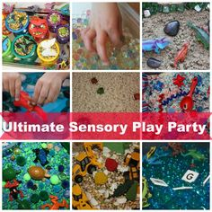 Loads of great ideas for sensory play