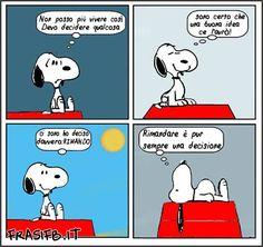Decidere qualcosa - Snoopy