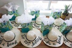 DIY Beach Hats. A Tropical Beach Bachelorette Party | Ultimate Bridesmaid | Love Always, Audrey