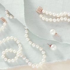 Looking for the finishing touch? Dive into strands of pearls.