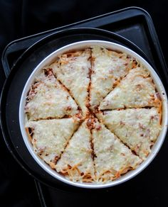 Deep dish pizza spaghetti bake-4731