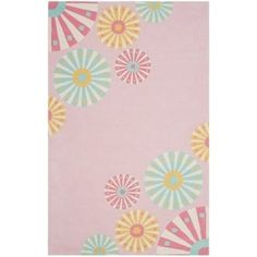 Martha Stewart by Safavieh Candy Shop Carnation / Pink / Blue Wool Area Rug (4' x 6') | Overstock.com Shopping - The Best Deals on 3x5 - 4x6 Rugs