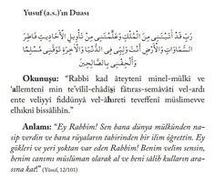 Hz.Yusuf (A.s.) duası