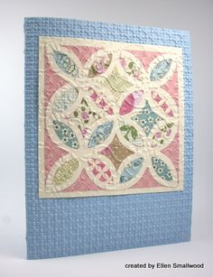 Quilting with Paper by Ellen Smallwood. Directions and photos.