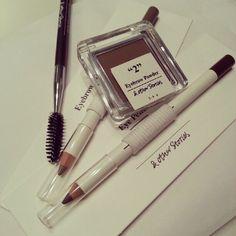 & other stories cosmetics, eyebrow powder + pencil, eye pencil & eyelash brush