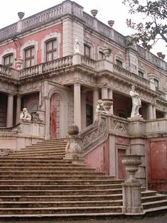 Queluz palace, an 18th century-royal residence which is one of the main rococo buildings in Portugal