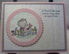 Pretty Kitty with the Woodland Embossing Folder | UdderlyAwesome Stamping From The Heart | Bloglovin'