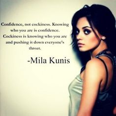 know the difference between confidence and cockiness