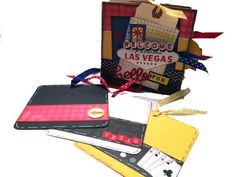 Las Vegas Scrapbook Vegas Vacation Paper Bag by apicketfencelife