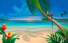 images of beach scene paintings | Beach Painting_Another Perfect Day Seascape
