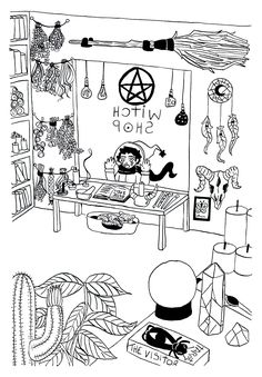 Witch Shop, Inktober, Drawings, Day, Illustration, Shopping, Instagram, Illustrations, Sketch