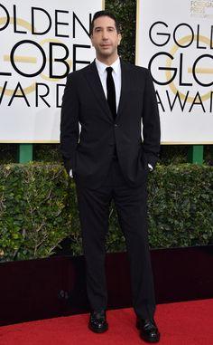 David Schwimmer from 2017 Golden Globes Red Carpet Arrivals