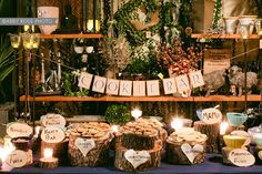 Cookie bar - Love this banner and the tea lights!