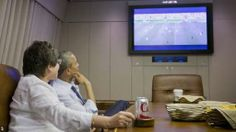 President Obama, watching the USA from the White House.  www.supersoccersite.com
