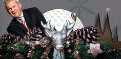 Golf Business in der Vorweihnachtszeit, Hirsch, Golfer, Köln, abbaio