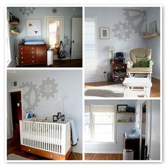 Jack's Robot Room by bumblev, via Flickr  such a fun way of doing a boy room!!