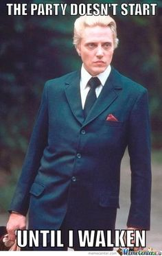 What's with me and my love of Christopher  Walken? More cowbells please.