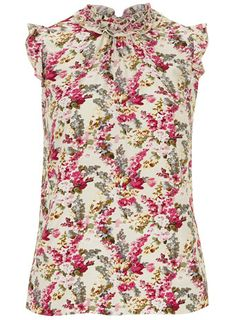 Billie and Blossom Floral frill neck blouse - Tops - View All Sale - Sale