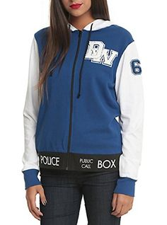 Doctor Who Her Universe TARDIS Juniors Varsity Hoodie (Extra Large) @ niftywarehouse.com #NiftyWarehouse #DoctorWho #DrWho #Whovians #SciFi #ScienceFiction #BBC #Show #TV