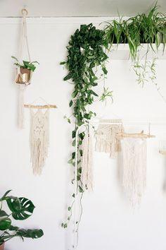 lark + arrow wall weavings and hanging plant / sfgirlbybay