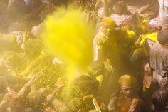 Holi festival in Vrindavan, Uttar Pradesh, India.