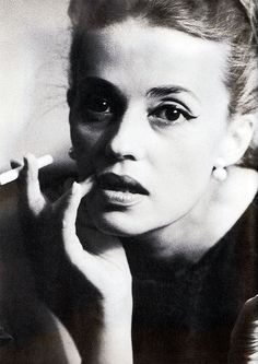 "Jeanne Moreau, photo by Dan Budnick, 1962 - Known for 1998's ""Ever After"" as the elderly woman (Marie Therese of France) who tell the story of Cinderella to the Bros Grimm."