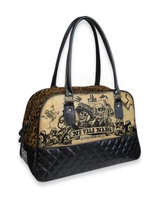 Liquor Brand Damen LA VIDA Handtasche.Oldschool,Rockabilly,Tattoo,Pin up Style