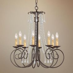 "Crystorama Soho Collection Dark Rust 28"" Wide Chandelier - #P9605 