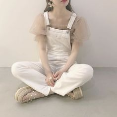 Overalls Outfit, Clothing Haul, Ulzzang Korean Girl, Cute Comfy Outfits, Korean Outfits, How To Look Pretty, Dress To Impress, Korean Fashion, Girly