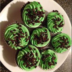 Mint chocolate cupcakes!