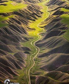 Roads in Golestan in Iran ~ Photograph By @amin.hazini