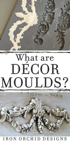Want to add three dimensional details to your walls furniture and artwork? Then you need to learn about Decor Moulds from Iron Orchid Designs. These moulds allow you to use a variety of materials to create custom DIY details with ease! Upcycled Furniture, Furniture Projects, Furniture Makeover, Furniture Decor, Painted Furniture, Baroque Furniture, Decoupage Furniture, Dark Furniture, French Furniture