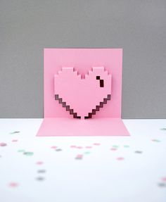 Popup pixel valentines card 2013 *new and improved*