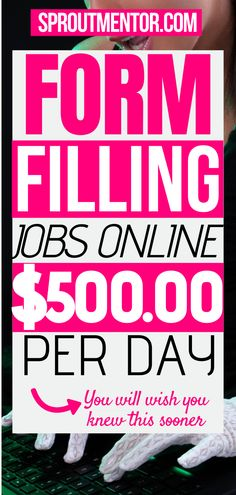 Here are simple form filling jobs for people looking for simple ways to make money online on the side. These are ideal side jobs for people looking for online jobs to earn extra money. #onlinejobs #sidejobs #workfromhomejobs #jobs #finance #money #stayathomejobs #formfillingjobs #typingjobs #dataentryjobs