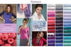 Cool summer colour palette. Cool Summer Palette, Summer Color Palettes, Summer Colors, Color Type, Type 1, Winter Typ, Cool Skin Tone, Seasonal Color Analysis, Summer Shades