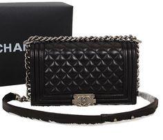 830f7943d3 Chanel Quilted Bag Black Sheppskin Leather Le Boy Flap Shoulder A67086  Silver. Only $177.00. Designer Replica Handbags