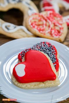My Christmas Heart cookies I made on Hallmarks Home and Family TV show!
