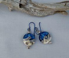 Lampwork Ocean Waves Earrings