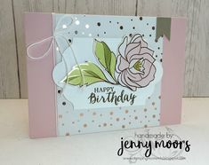 Hello Everyone, I don't know about you but I am so ready for Spring to arrive. So I have some soft spring like crafting for you today. From the February - next week - Stampin' UP! are releasin Card Making Inspiration, Making Ideas, Paper Cards, Foil Paper, Stampin Up Catalog 2017, Handmade Card Making, Embossed Cards, Mothers Day Cards, Happy Birthday Cards