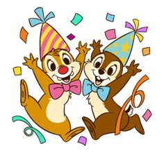 Meet cheeky Chip with the small black nose, goofy Dale with the big red nose, and their beloved Clarice! Go nuts with these super cute and expressive stickers! Old Cartoons, Disney Cartoons, Chip E Dale, Cartoon Charecters, Baby Looney Tunes, Birthday Wallpaper, Alvin And The Chipmunks, Disney Birthday, Happy Birthday