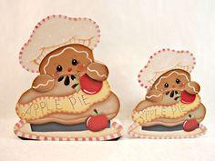 Gingerbread Fridge Magnet and Shelf Sitter by ByBrendasHand. Designed by Pamela House