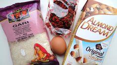 Hozzávalók: Gari, goji bogyó, 1 tojás, mandula tej