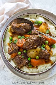 Save time and make Instant Pot beef stew with a hearty mix of potatoes, carrots, celery, and onions all thrown together in your electric pressure cooker. **cook on manual for min for more tender beef. Top Recipes, Crockpot Recipes, Cooking Recipes, Beef Stew Recipes, Recipies, Amazing Recipes, Vegan Recipes, Dinner Recipes, Dessert Recipes