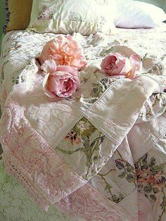 Beautiful floral bed cover