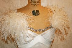Designed for a girls glamorous side. Every girl has a little starlet in them! Perfect little shrug for your wedding day or special even Wedding Styles, Wedding Ideas, Wedding Book, Wedding Stuff, Black White Wedding Dress, Crystal Gown, Roaring 20s Wedding, Great Gatsby Theme, Winter Bride