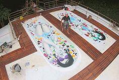 New rooftop mural by @findac in Hong Kong. by powwowworldwide