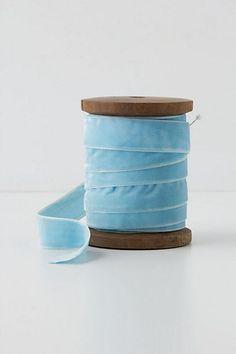 Etoile Velvet Ribbon, Wide #anthropologie Lace Ribbon, Velvet Ribbon, Wood Spool, Brown Paper Packages, Irish Blessing, Frou Frou, Carolina Blue, Uk Fashion, Glamour