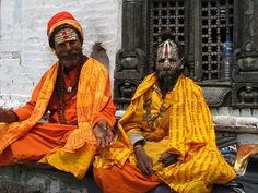 These 2 sadhus at the Pashupatinath Temple