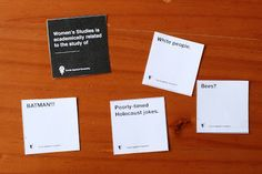 Feminist cards against humanity... what?! awesome! download & play :)